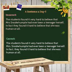 A Sentence a Day – 1