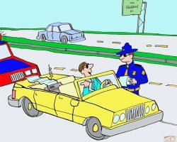 پلیس و راننده خاطی