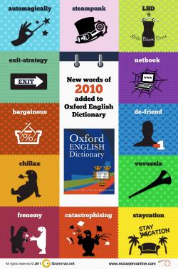 کلمات جدید سال ۲۰۱۰