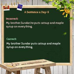 A Sentence a Day 05
