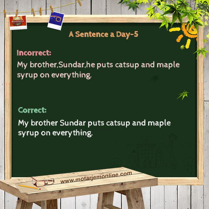 A Sentence a Day 5