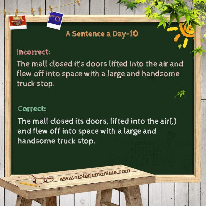 A Sentence a Day-10