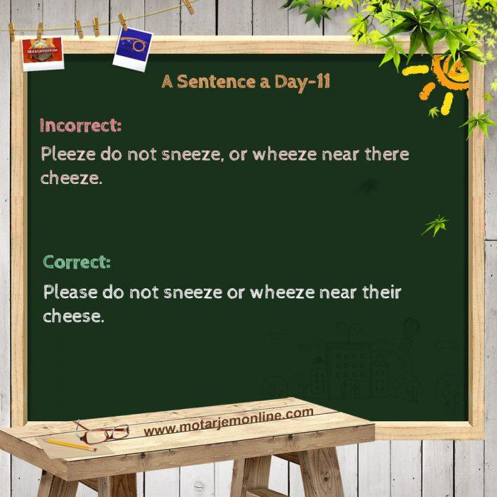 A Sentence a Day-11